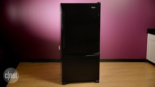 This Whirlpool bottom freezer is the Clark Kent of fridges