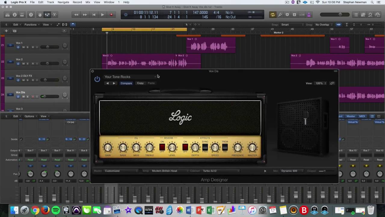 processing vocals with distortion using a guitar amp plugin youtube. Black Bedroom Furniture Sets. Home Design Ideas