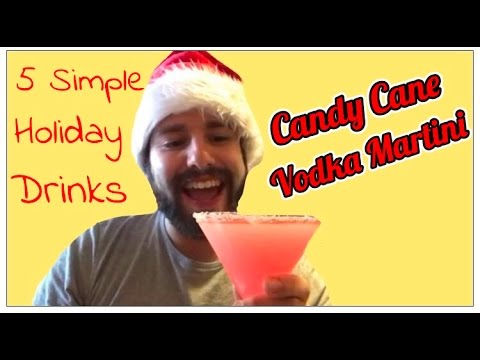 CANDY CANE VODKA MARTINI! 5 HOLIDAY DRINKS...