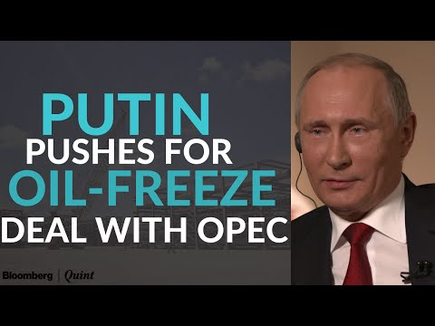 Putin Pushes for Oil-Freeze Deal With OPEC, Exemption for Iran