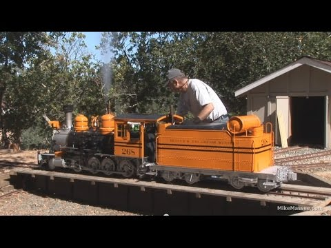 Flintridge & Portola Valley - firing up the bumblebee #268 - live steam