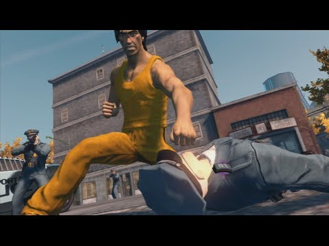 Bruce Lee VS The Police | Game of Death | Saints Row
