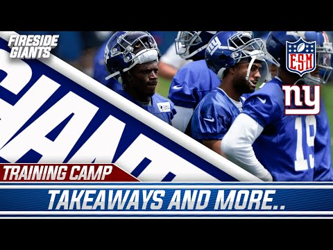 Top Takeaways From New York Giants First Day Of Live Training Camp Practice!