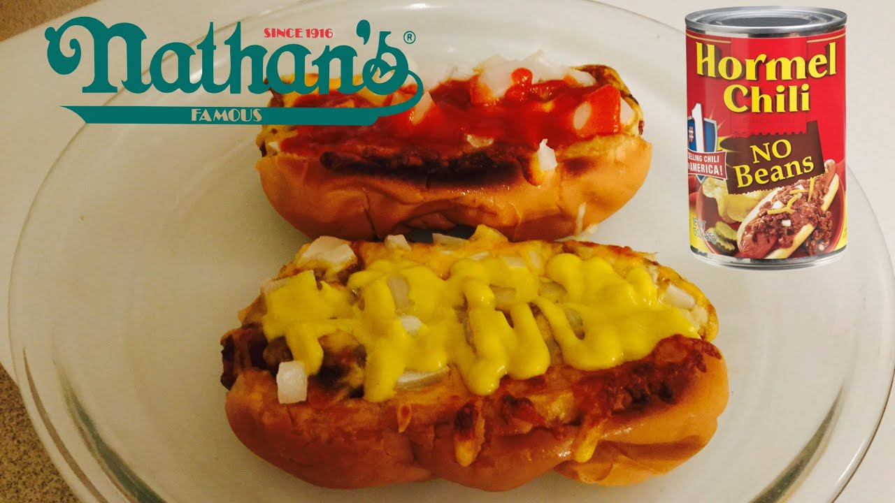 Chili Dog Recipe Nathan S Hormel Chili What S For Dinner Youtube