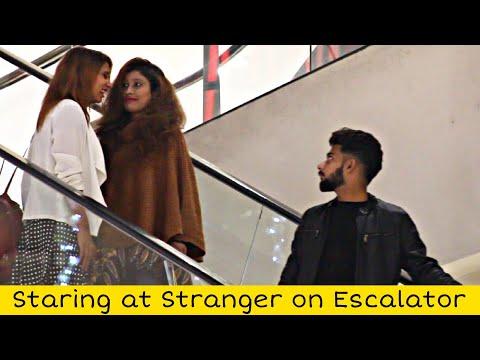 Staring At Strangers On The Escalator   Prank In Pakistan