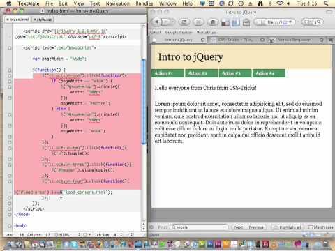 CSS-Tricks Screencast #35: Intro to jQuery 2