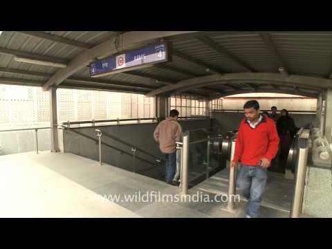 AIIMS metro station of the yellow line of Delhi Metro