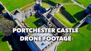 Portchester Castle, UK Drone Footage in Spectacular 4K