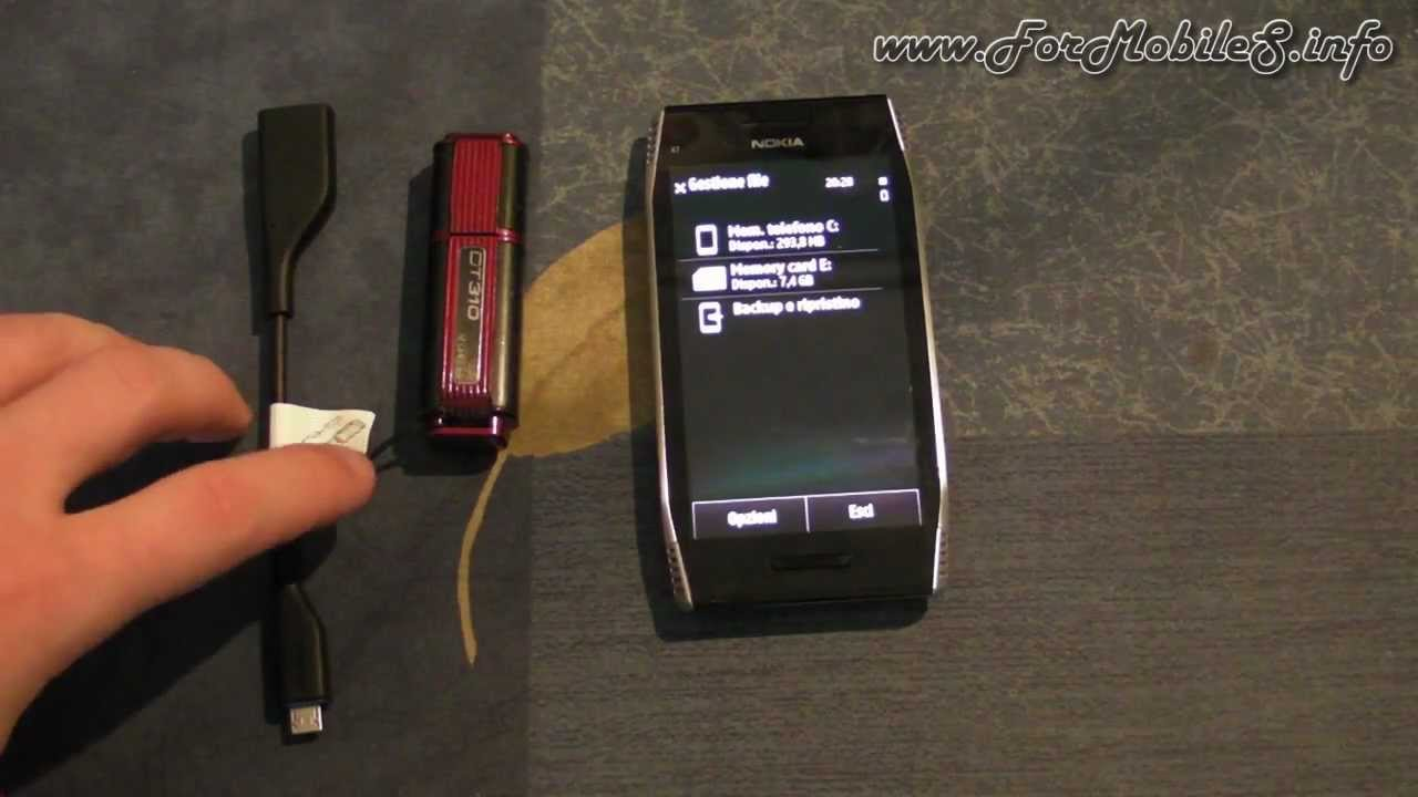 Nokia x7 00 software - Nokia X7 00 Demo Usb Otg Con Pendrive Usb 2