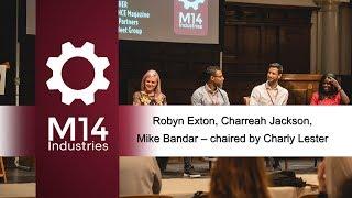 PR Panel - Robyn Exton, Charreah Jackson, Mike Bandar, Justin Gerrard @M14 Conference
