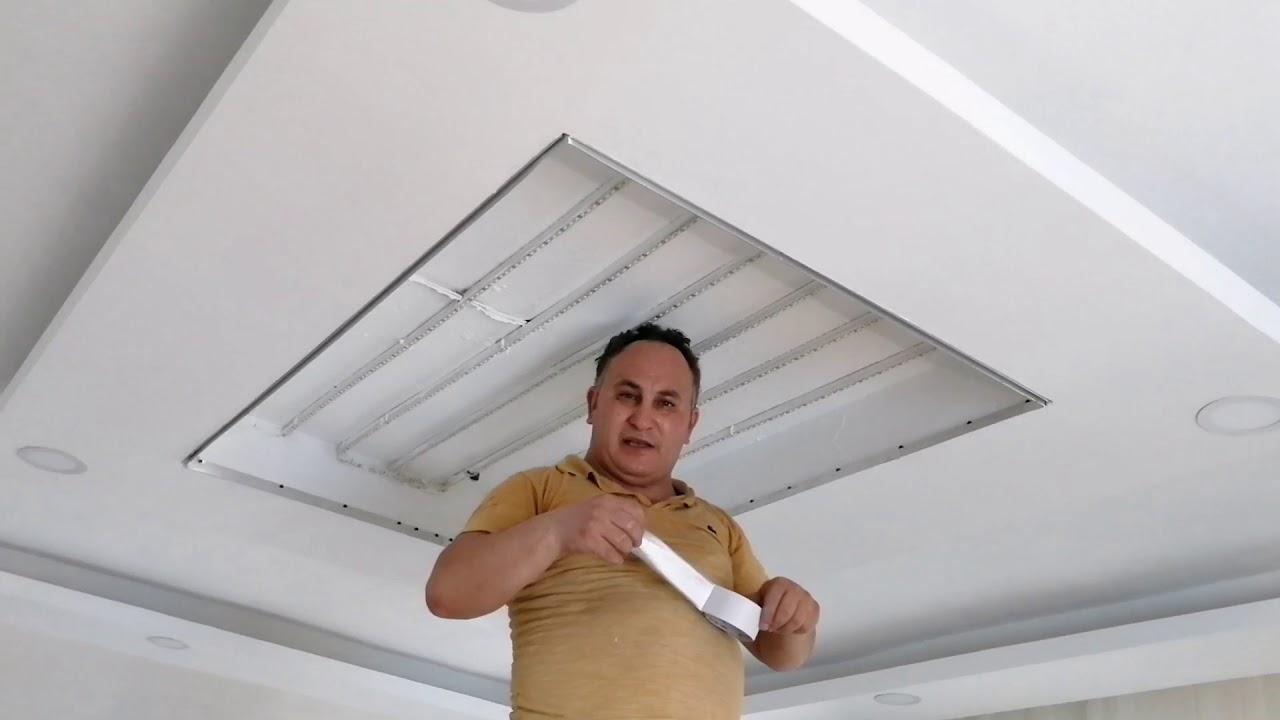 Gergi tavan montajından önce LED döşemesi - Albayrakgergitavan.com