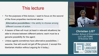 Christian LIST: Free will in a physical world Video
