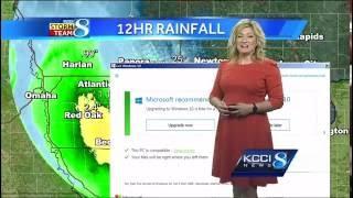 Окно обновления Windows 10 в прямом эфире телеканала прервало прогноз погоды