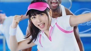 桜井日奈子 白猫テニス「エクササイズ」篇 CM 桜井日奈子 検索動画 19