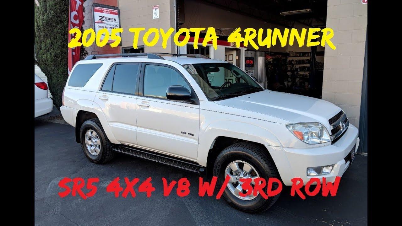 2005 Toyota 4runner Sr5 4x4 V8 Awd 4x4 W 3rd Row For Sale Youtube
