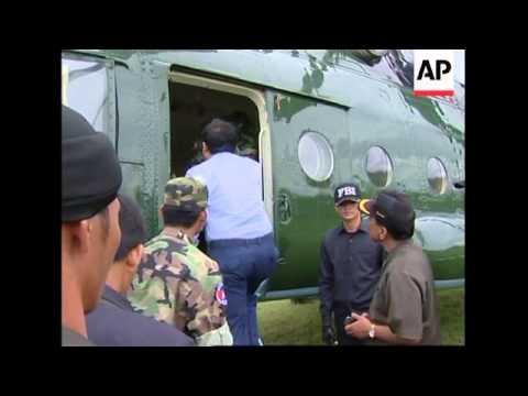 WRAP Bad weather hampers search for plane wreckage ADDS Hun Sen arrival, SKor amb