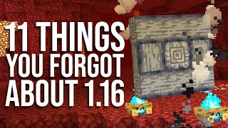 11 FORGOTTEN Features in the Nether Update! (Minecraft 1.16)