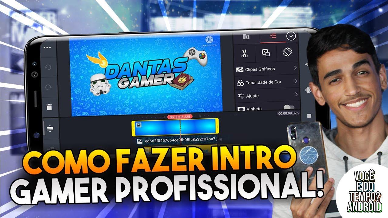 Como Fazer Intro Gamer/Geek Profissional Pelo Celular - Kinemaster