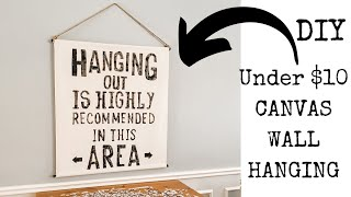 $10 Large Scroll Canvas Wall Hanging  |  Farmhouse Inspired