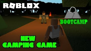 Roblox BootCamp | Full PlayThrough | Bad Ending ( NEW CAMPING GAME!! )