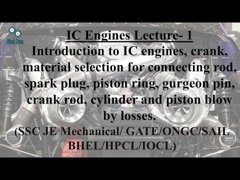 IC Engines Lecture 1: IC engines, material selection fro different parts,blow by losses.