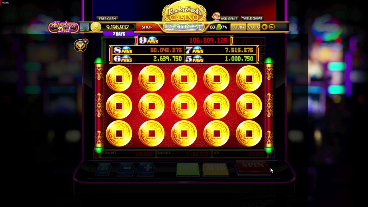 Rock N Cash Casino Fortune Diamonds Slot Machine Youtube