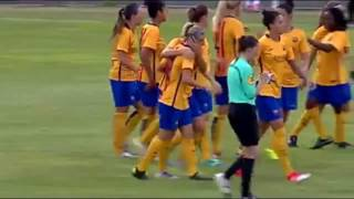 17 Year old football progedy  Nerilia Mondesir Montpelier HSC scored vs Barcelona