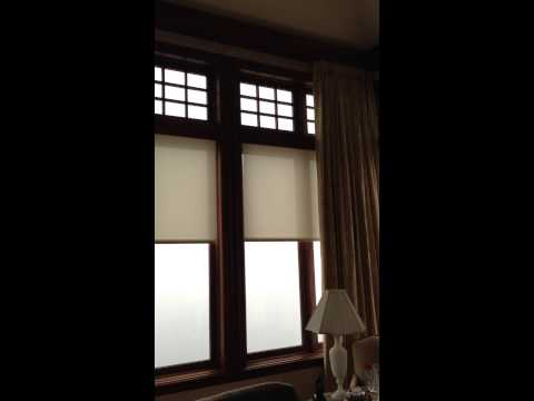 Motorized Shades: Opening drape then shade