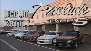 [ENG CC] Prelude S debut battle - Integra R, Silvia S14, Evo IV, Impreza, Tourer at Tsukuba 1997