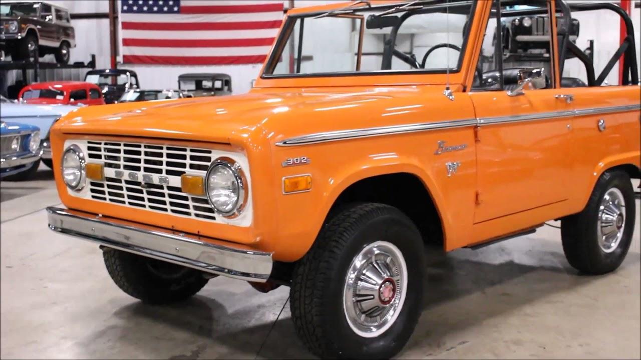 1973 ford bronco orange youtube for Garage ford orange