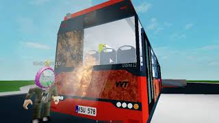 Solaris Urbino 12 IV | On fire! | Roblox roleplay