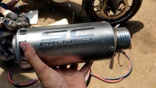 SC Project exhaust on Pulsar 200 NS / After market exhaust / loud exhaust / Modification