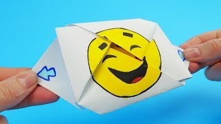 DIY Emoji Origami Exploding Envelope   Boom Surprise Envelope