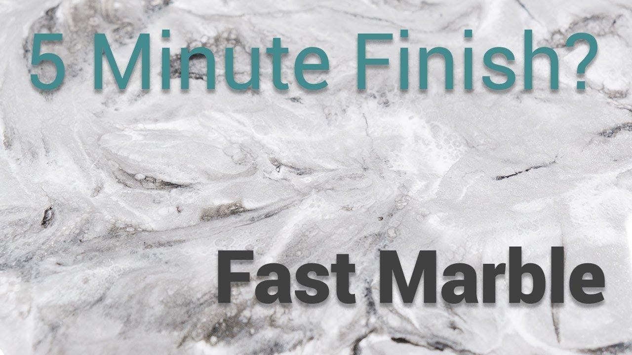 5 minute finish? A fast marble technique using Stone Coat Countertop Epoxy!