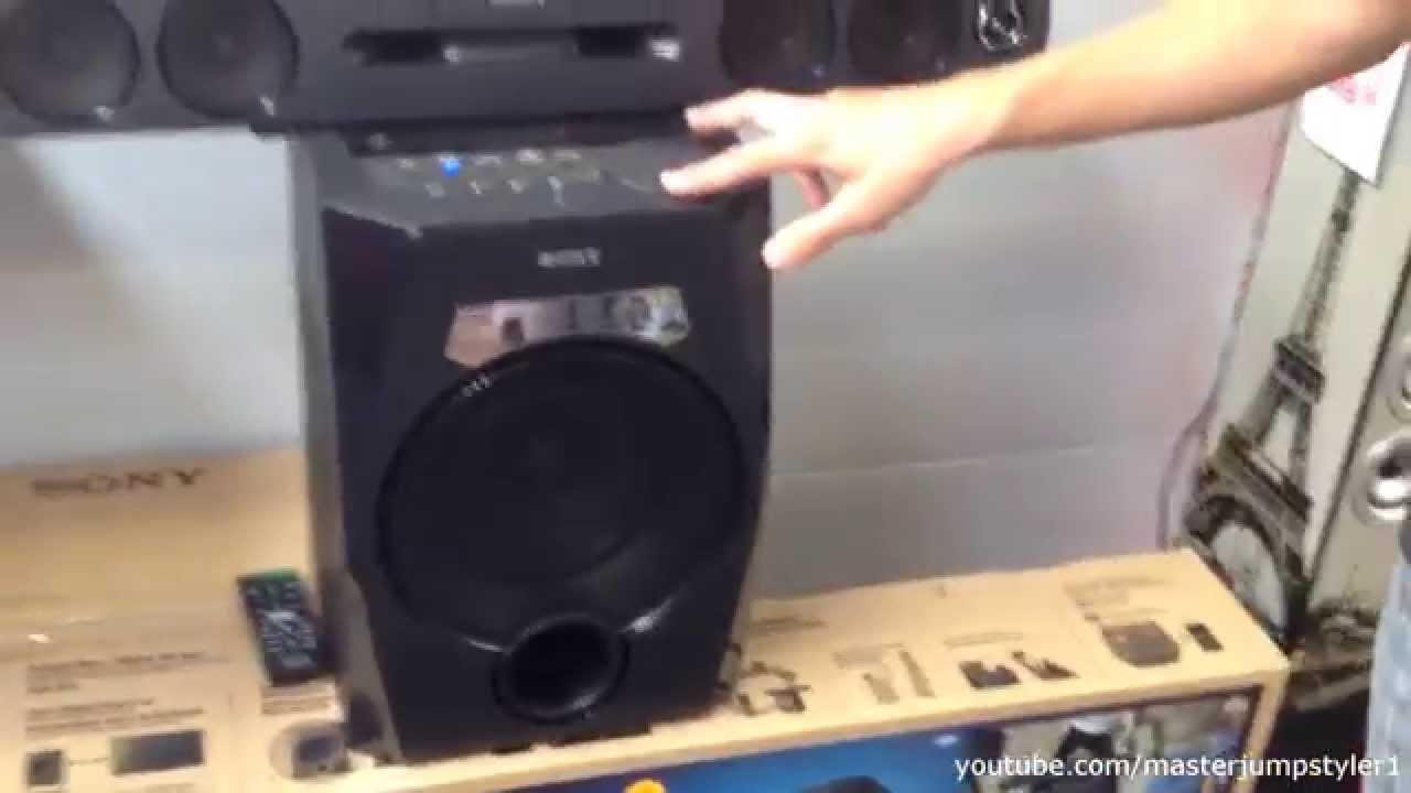 Sony HTGT1 BOOMBOX // Soundtest (max. Lautstärke) // 260 W 2-Wege ...