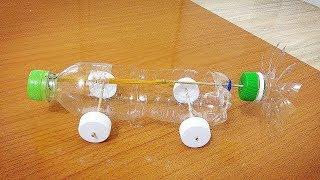 Chế Xe Đồ Chơi Bằng Chai Nhựa Và Các Vật Dụng Đơn Giản