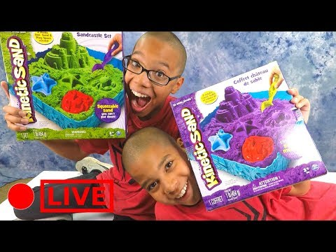 Kinetic Sand Sandcastle Set!!! Squeezable Sand! Slime Altern