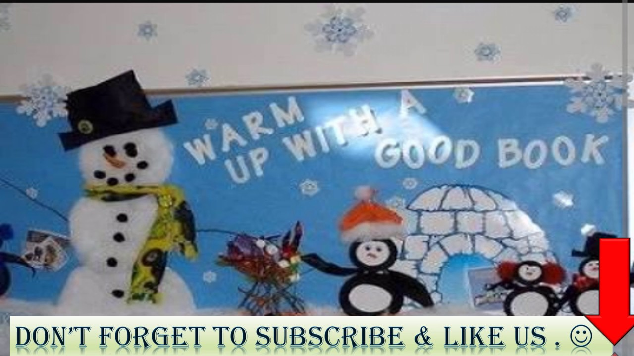 25 best winter themes to decorate soft board for montessori youtube