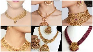 Top Fashion Gold Necklace/Pendant Set 2020 for Engagement Bride/Nikah Jewelry Ideas for Girls