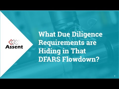 What Due Diligence Requirements are Hiding in that DFARS Flowdown?