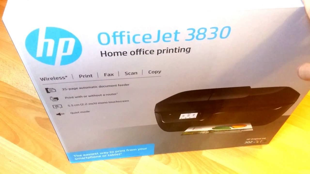 Hp Officejet 3830 Unboxing And Set Up P1 Youtube
