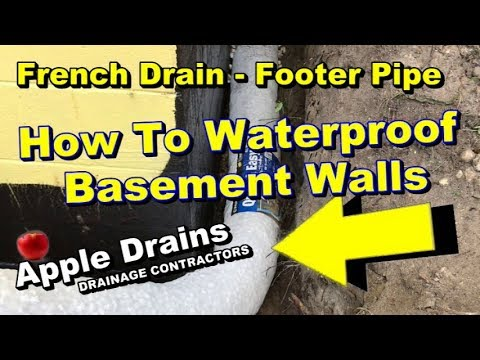 French Drain, Exterior Foundation Waterproofing, How to Waterproof Basement Walls