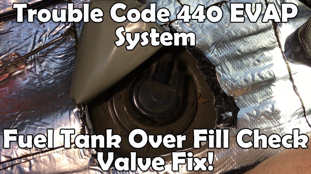 Lexus Is300 Trouble Code 440 Evap System Fuel Tank Over