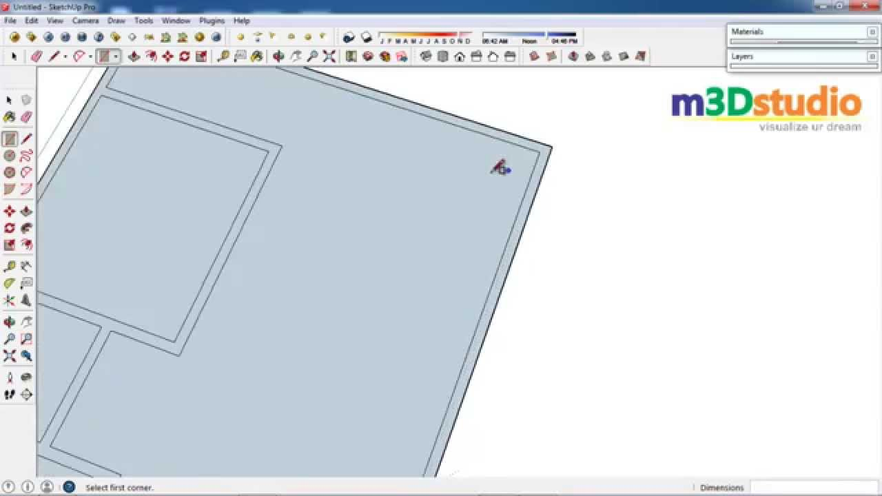 1 sketchup tutorial how to make a simple blueprint in for Minimalist house sketchup