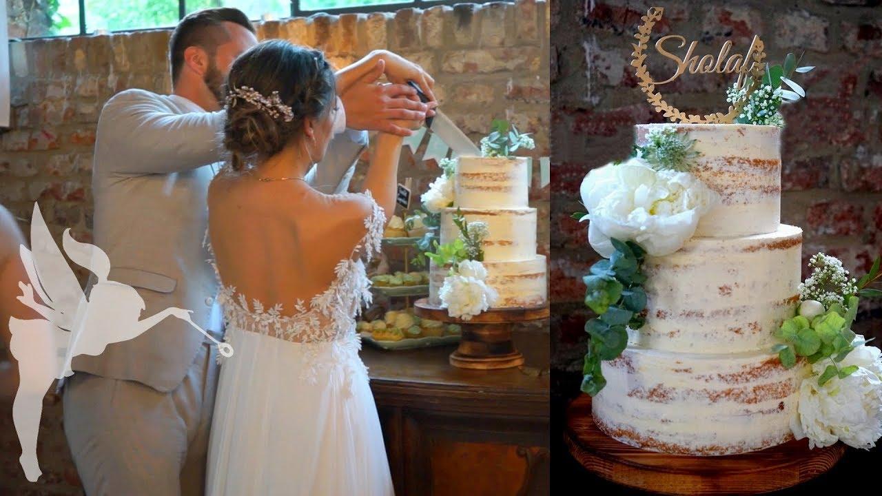 Making Of Semi Naked Hochzeitstorte Hochzeitstorte Seminaked