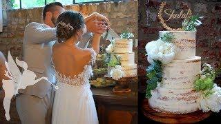 Making of Semi Naked Hochzeitstorte - Hochzeitstorte Seminaked Tutorial - Kuchenfee