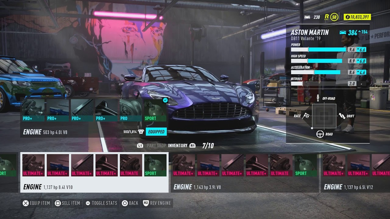 Aston Martin Db11 Volante All Maxed Out Engines Stats Sound Need For Speed Heat Youtube
