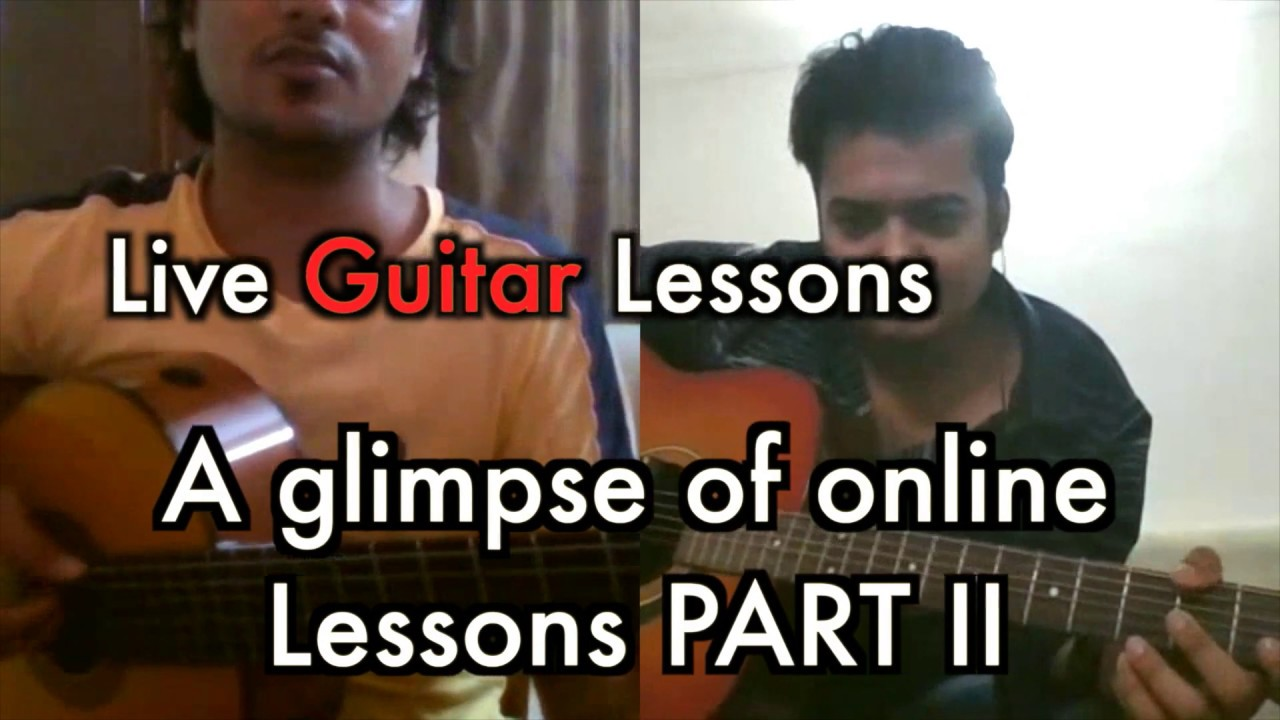 Online Guitar Classes on Skype India  PART II | Music Circle Online Music Classes India