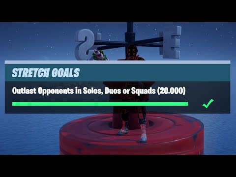 Outlast Opponents In Solos, Duos Or Squads (20.000) - Fortnite Prestige Stretch Goals Challenges