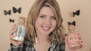 ASMR   Healing Bath Salt Recipe for Relaxation & Tingles